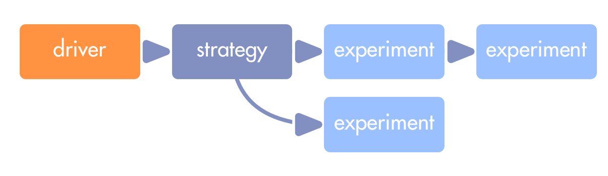 From Driver to Strategy to Experiments