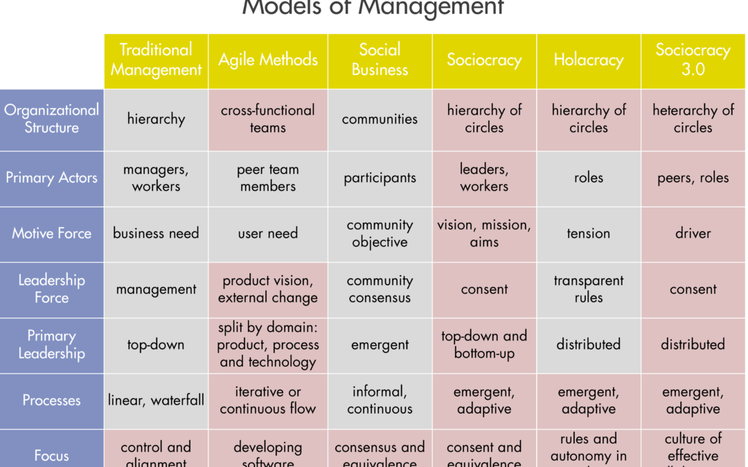 Comparing Different Models of Management